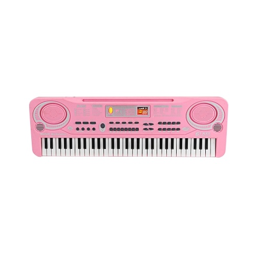 61 Keys Electronic Organ USB Digital Keyboard Piano Musical Instrument Kids Toy with Microphone I6635P