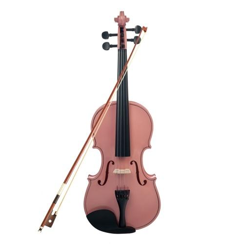 4/4 matériau en bois d'érable pour violon avec sac de transport arc en bois massif pour instrument à cordes étudiant débutant
