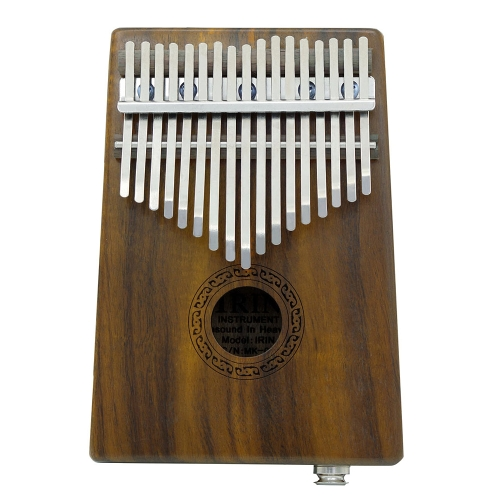 17-key EQ Thumb Piano Kalimba Mbira Sanza Solid Acacia Built-in Pickup With 6.35mm Speaker Interface Musical Gift for Music Lovers Beginner Students