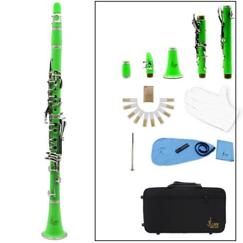 Klarinette ABS 17 Key bB Flach Sopran Fernglas Klarinette