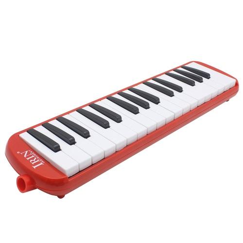 32ピアノのキー初心者の子供の子供のギフトのためのメロディカ音楽教育機器バッグレッドキャリング付き