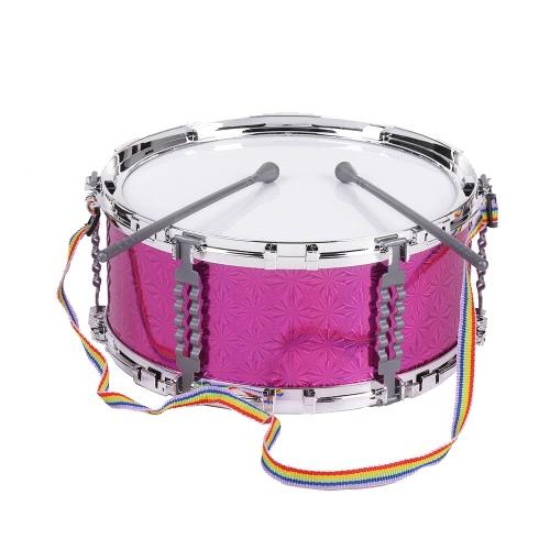 Bunte Jazz Snare Drum Spieluhr Schlaginstrument mit Drum Sticks Strap für Kinder Kinder