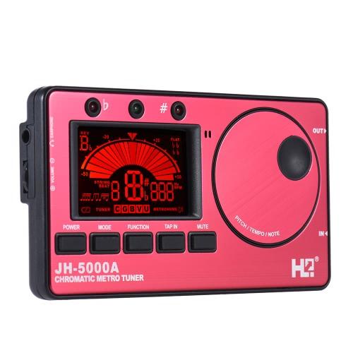 3 in 1-elektronische Digital-Tuner Metronom Tongenerator Eingebautes Mikrofon Tuning LCD-Anzeige für Chromatic Guitar Bass Ukulele Violine