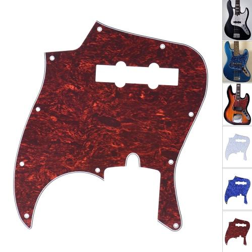 4Ply PVC JB Style Bass Schlagbrett-Auswahl-Schutz Scratch Platte 10 Loch für Fender American / Mexiko gemacht Standard Jazz Bass Tortoise Shell Red