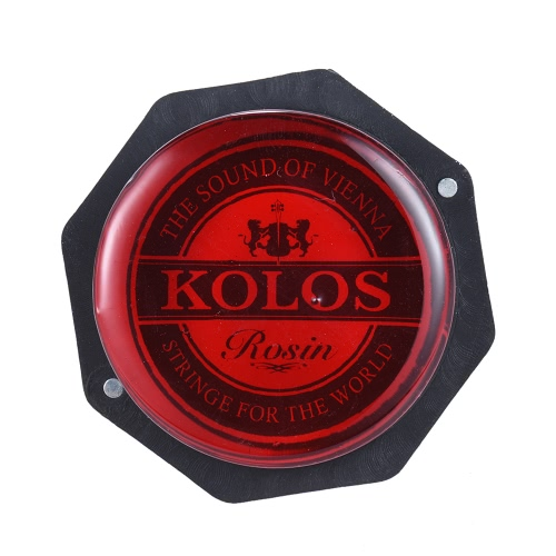 High-Class Low Staub Red Rosin Colophony Transparent Abgerundete Universell für Streichmusikinstrument Violine Viola Cello Erhu