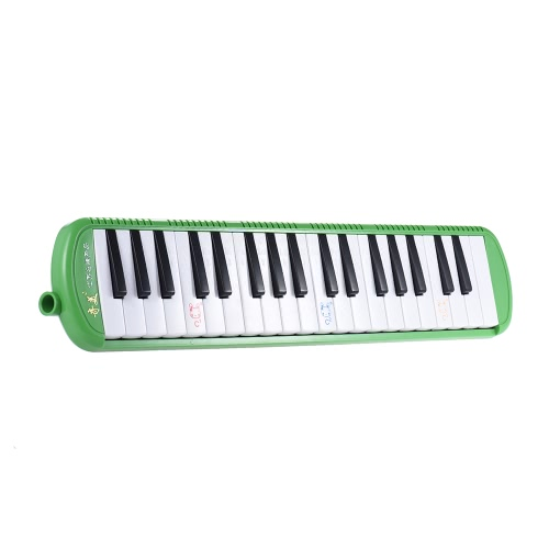 QIMEI QM37A-9 37 Piano Style Keys Melodica Musical Education Instrument for Beginner Kids Children Gift with Carrying Bag Green