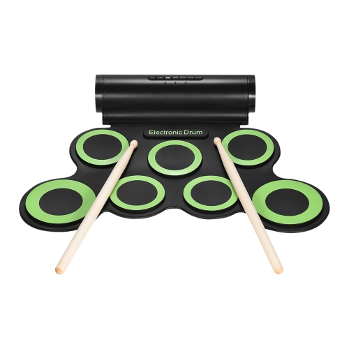 Portable Digital Stereo Electronic Drum Set