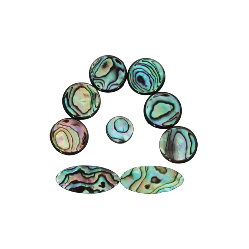 9pcs Colorful Abalone Shell Key Button Inlays for Tenor/ Alto/ Soprano Sax Saxophone
