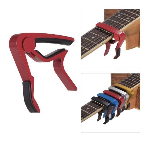 Aluminum Alloy Quick Change Guitar Capo Clamp Single-handed