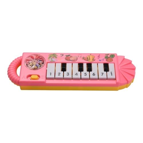 Muslady Mini 8-Tasten E-Piano Spielzeug für Kinder Frühe musikalische Ausbildung