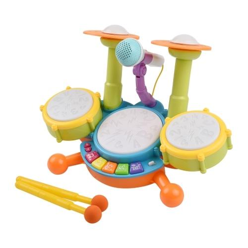 Muslady Kids Drum Set Tambour Électronique Jouet