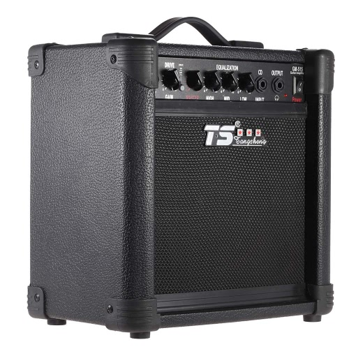 GM-515 Professional 3-Band EQ 15W Electric Guitar Amplifier Amp Distortion with 6.5