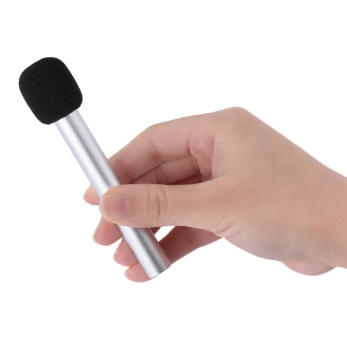 Handheld Mini Microphone 3.5mm Stereo Condenser Mic for iPhone Android Smartphone PC Laptop Chatting Singing Karaoke
