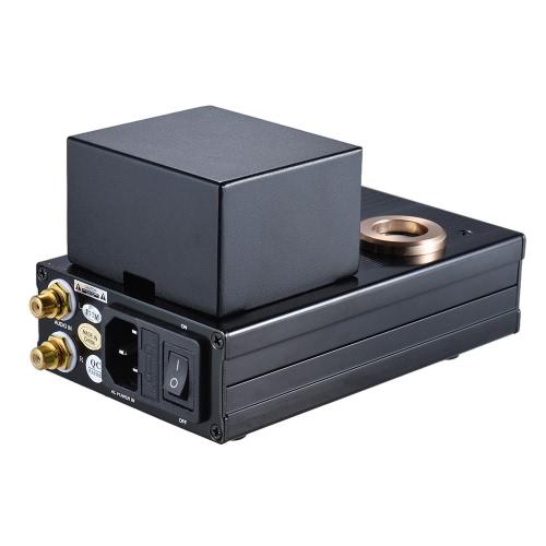 Pouco Dot I + Vacuum Transistor híbrido Tubo Headphone Amplificador HiFi Stereo Amp pré-amplificador com cabo RCA 3,5 mm para 6,35 milímetros Adapter