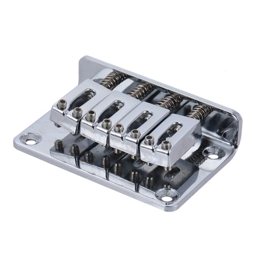 4弦エレクトリックウクレレシルバーための固定ハードテールテールピースブリッジセット