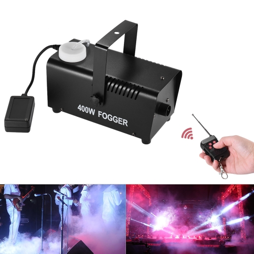 Wireless 400 Watt Fogger Fog Smoke Machine with Remote Control for Party Live Concert DJ Bar KTV Stage Effect