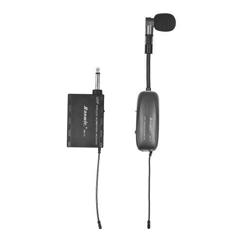 Baix BM-12 / V2プロフェッショナルUHFワイヤレス楽器マイクロフォンシステム、サックスサックス用フレンチホーントランペットトランブル