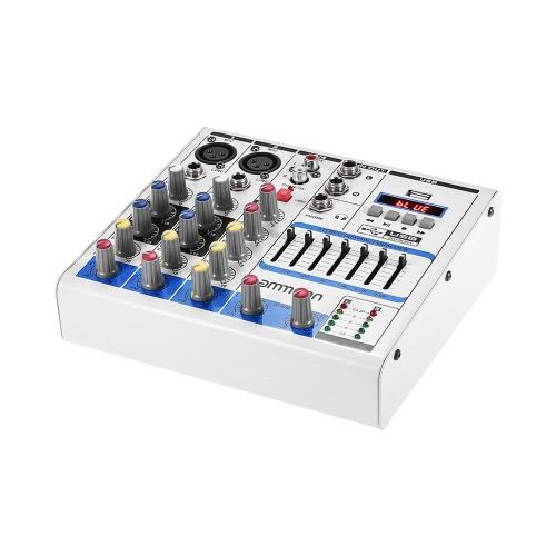 ammoon compact size 4 channel digital audio mixer mixing console for sale us white us. Black Bedroom Furniture Sets. Home Design Ideas
