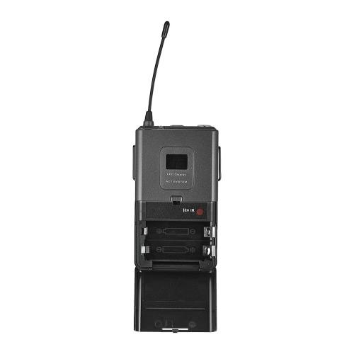 ammoon 4T Professional 4チャンネルUHFワイヤレスヘッドセットマイクシステム