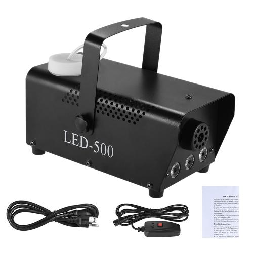 400W Kolorowe Fogger Mgła Smoke Maszyna Wired Remote Contol