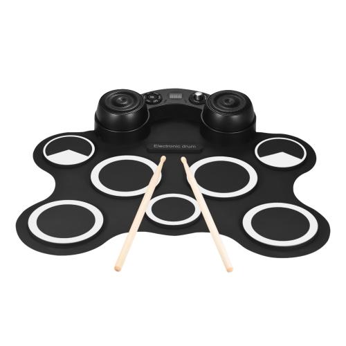 ポータブルUSBステレオデジタル電子ドラムキットセット