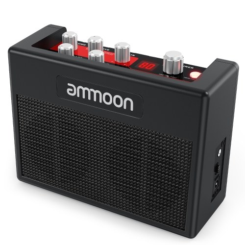 POCKAMP Portable Guitar Amplifier Amp Built-in Multi-effects 80 Drum Rhythms Support Tuner Tap Tempo Functions with Aux Input Headphone Output, Power adapter included
