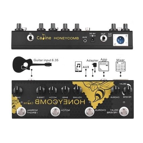 Caline CP-48 Honey Comb Акустическая гитара Мультиэффекты Педаль Хорус Задержка реверберации Усиление Notch EQ Гитарные эффекты