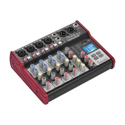 Mezclador de consola mezclador portátil de 6 canales Muslady SL-6