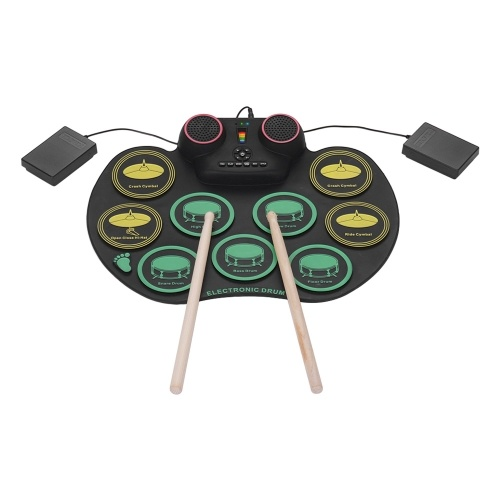 Schlagzeug-Rollup-Silikon-Drum-Kit