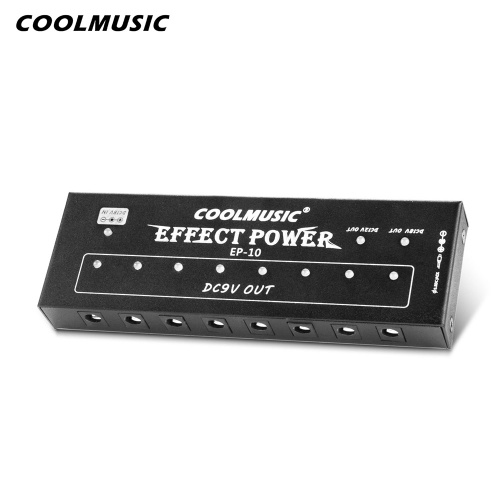 COOLMUSIC EFFECT POWER EP10 Professional 10 Channels Power Supply for 9V/12V/18V Guitar Effect Pedals