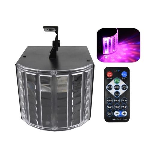 Mini Stage Light Lamp 6 colori (R / G / B / Y / P / W) Luci Sound Activated Auto Disco Light con telecomando per DJ Party Wedding Club Pub KTV