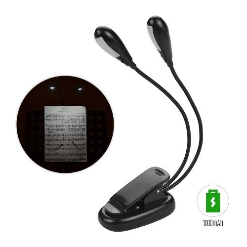 Accesorio para instrumentos musicales Clip en la luz de lectura Lámpara del atril