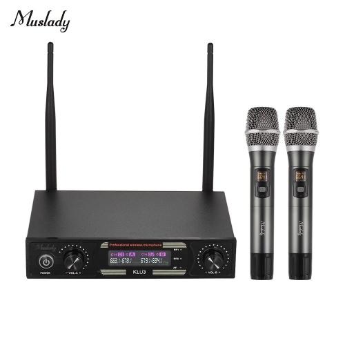 Set di microfoni wireless Muslady KLU3 UHF
