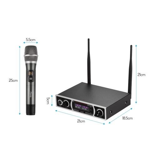 Muslady KLU3 UHF Wireless Microphones Set