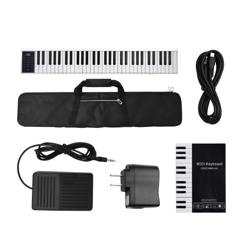 Sortie MIDI du clavier de piano électronique numérique à 61 touches