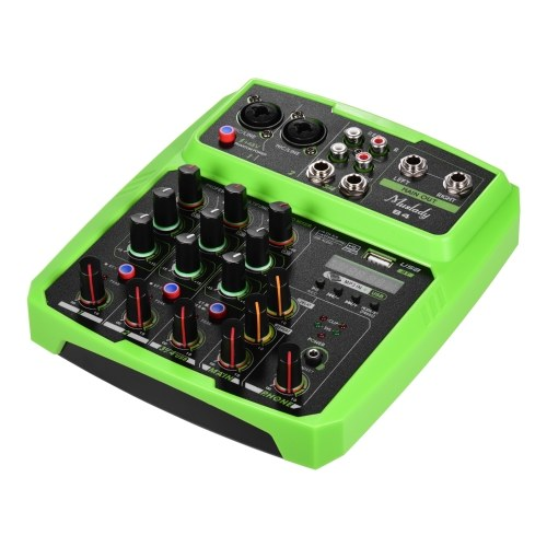 Muslady B4 Portable 4 Channels Audio Mixer USB Mixing Console