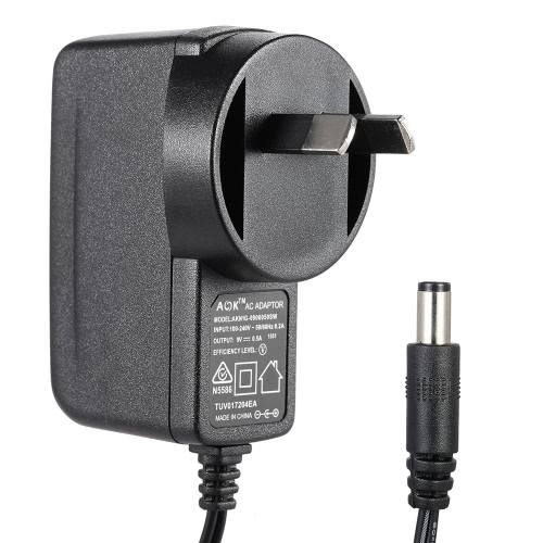 US Plug AC 100-240V to DC 9V 0.5A Power Supply Converter Charger Adapter for Guitar Effect Pedal and Electric Keyboard