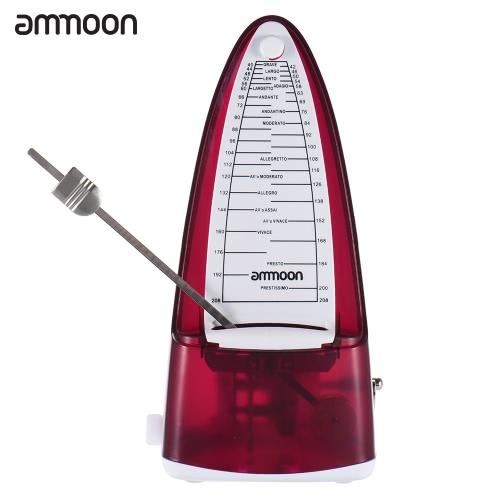 ギターバイオリンウクレレ楽器愛好家の初心者のための携帯用ユニバーサル機械メトロノーム二重のトリプルトリプル6人ammoon