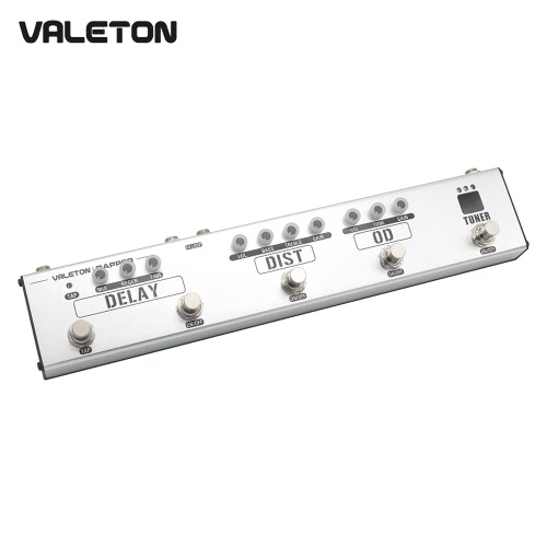 VALETON VES-1 DAPPER 4-in-1 Multi-Effects Strip Tuner Overdrive Distortion Tap Delay FX Loop Guitar Effect Pedal