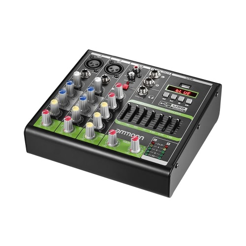 ammoon Compact Dimensione 4-Channel Digital Mixer Mixer Console