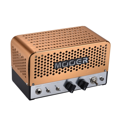 MOOER LITTLE MONSTER BM Mini 5W All-tube Amplificador de guitarra Amplificador Cabeça ECC83 (12AX7) ECC81 (12AT7) 6V6GT para 8Ω / 16Ω Alto-falante com saco de transporte