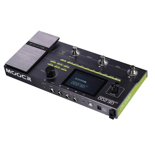 MOOER GE200 Amp Modelling & Multi Effects Pedal 55 Amplifier Models 26 Speaker Cab Models 70 Effects 52s Looper 40 Drum Patterns 10 Metronome Rhythms
