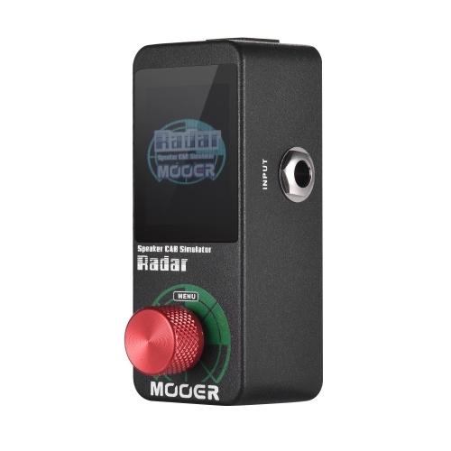 MOOER Speaker Cab Cabinet Simulator Pedal de efectos de guitarra 30 modelos de altavoces de cabina 11 modelos de micrófono 36 ajustes preestablecidos de usuario