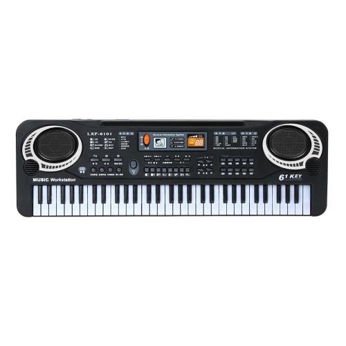 61 touches noir musique numérique clavier électronique clavier électrique Piano enfants cadeau Instrument de musique