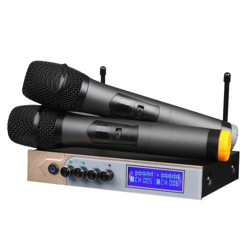 Micrófono de mano compatible con doble conexión BT y micro reproducción de música