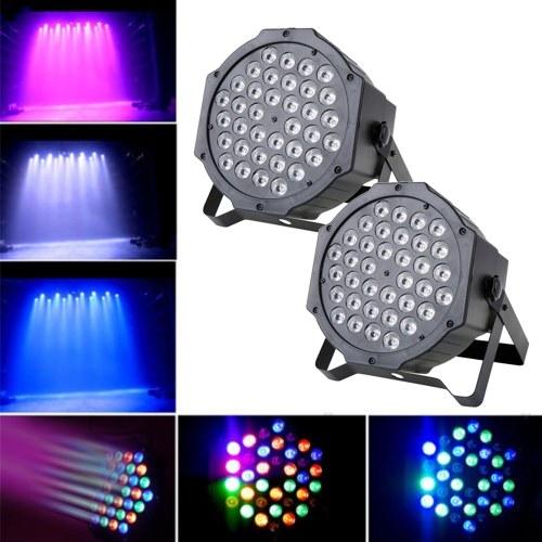 LED Stage Light Lampada RGB PAR Luci 36pcs LED 36W Sound-attivato Auto DMX512 Disco Light per DJ Party Wedding Club Pub KTV, confezione da 2 luci