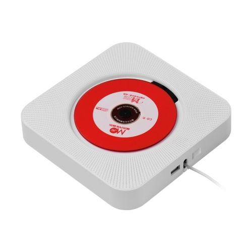 Wall Mounted CD Players with LED Display Portable Music Audio Boombox Remote Control Support BT/ USB/ Memory Card/ FM Modes