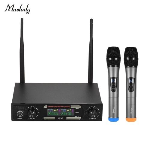 Muslady KLV3 VHF Набор беспроводных микрофонов