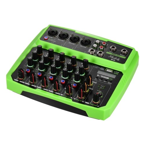 Muslady B6 Portable 6 Channels Audio Mixer USB Mixing Console