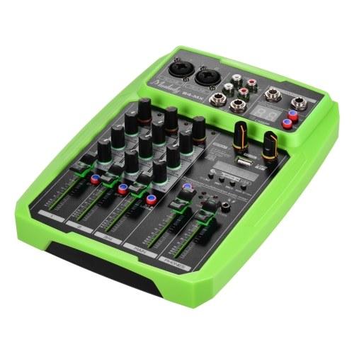 Muslady B4-MX Tragbarer 4-Kanal-Soundkarten-Mischpult-Audiomischer